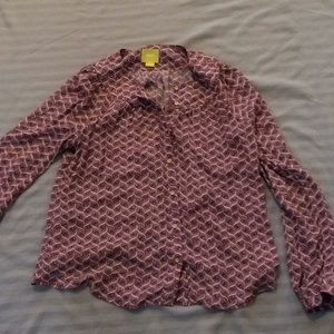 Anthropologie Maeve button-down top